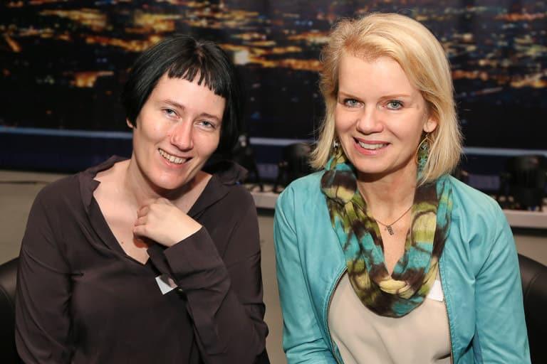 Die beiden Vorstandsfrauen Martina Madner (Wirtschaftsblatt) und Kristin Allwinger (akonsult).