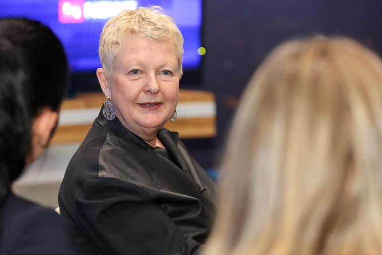 Bigi Handlos (ORF) beim Talk des Frauennetzwerk Medien bei Puls4