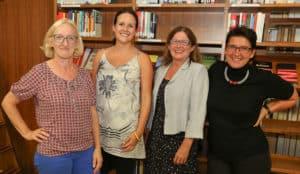 Ingrid Moritz, Maria Pernegger, Edith Stohl und Sonja Ablinger bei der Veranstaltung